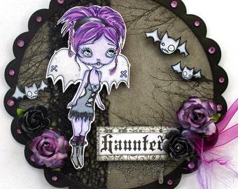 Digi Stamp Digital Instant Download Big Eye Creepy Cute Fairy Bat Girl ~ Dakota Image No. 69 & 69B by Lizzy Love