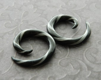 Black and Grey Spirals 8g-00g