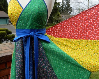 Rainbow Bright - Up-Cycled Womens Apron