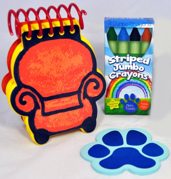 Blue's Clues Handy Dandy Joe's Notebook Cardstock Pages Thinking Chair Shape