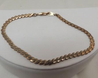 Vintage Gold Serpent Bracelet