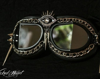 Goggles ~ Evil Eye - MADE TO ORDER