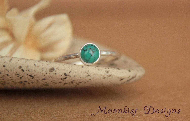 delicate turquoise promise ring unique bezel set turquoise
