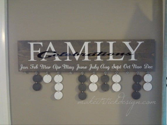 Grey Stained Family Celebrations Birthday By