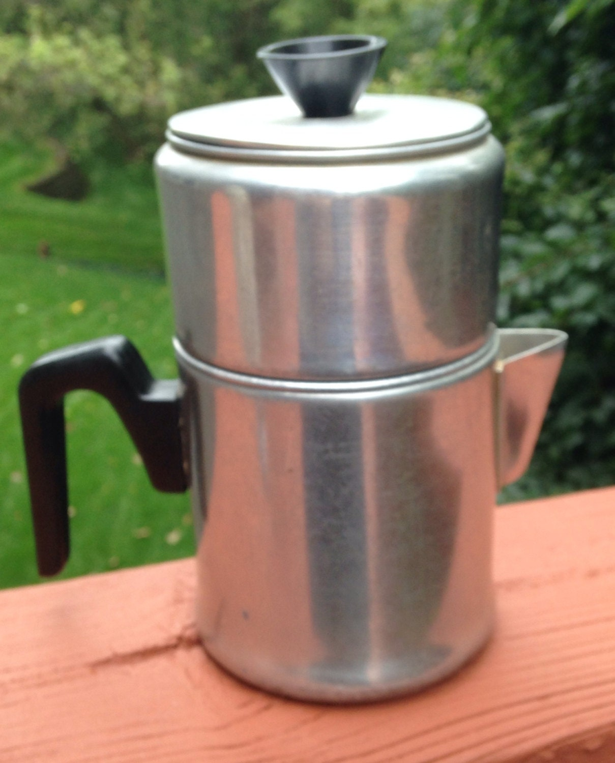 Electric Percolator Coffee Maker Reviews : Vintage Dripolator metal coffee pot. Non electric coffeepot.