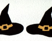 Witches Hat x 6 for Scrapbooking Cards and Paper Crafts Halloween Witch Embellishment Card Topper