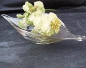 Vintage Glass Planter Art Glass Bowl Gondola Console Bowl Mid Century Modern Glass