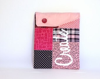 iPad cover, ipad sleeve, ipad case Pink design - Patchwork case