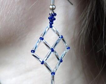 Beadwork Lattice Earrings