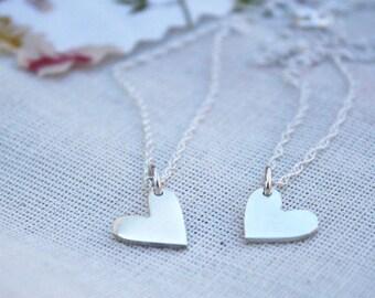 layered hearts necklace tiny hearts pendant double hearts heart charms