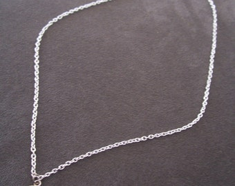 Silver Peace Charm Necklace