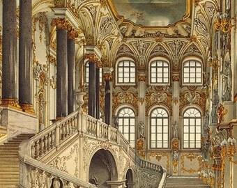 The Jordan Staircase, Winter Palace - Cross stitch pattern pdf format