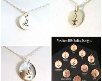 Choose Your UU Chalice Design Necklace in Sterling Silver
