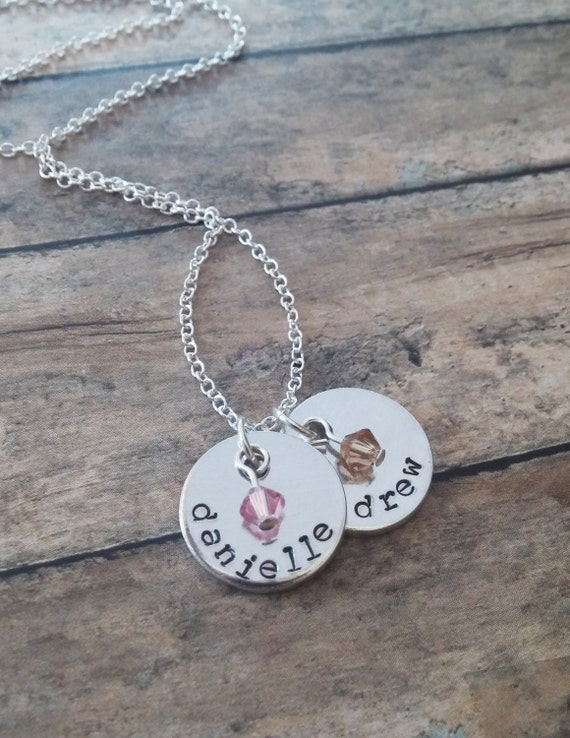 kids names necklace personalized family by gracefullymine