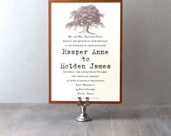 Simple Love - Oak Tree Southern Wedding Invitations, Rustic Wedding Invitations - Purchase to Start the Ordering Process