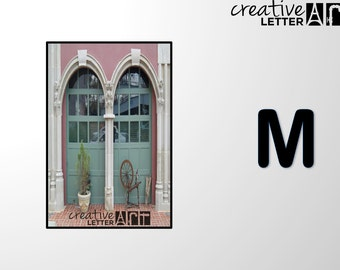 Download Letter M 200 Architectural Alphabet Photography - Printable sizes 4x6, 5x7 8x12 Digital Image - Family Name, Wedding, Personalize