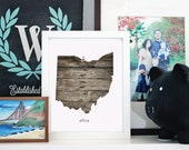 Printable Your Home State - Ohio - INSTANT DOWNLOAD 8x10