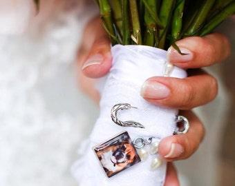 Fur Baby, Personalized Pendant, Pet Memorial, Dog, cat, ferret, Wedding bouquet photo charm, Wedding Memorial, Bouquet Charm, Scrabble Tile