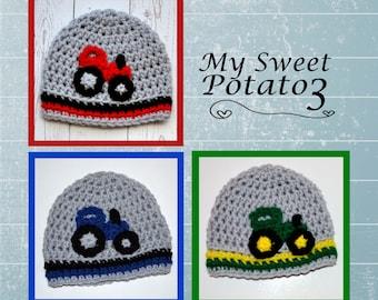 Tractor Hat Crochet - Custom Order