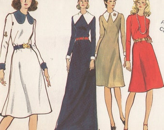 FACTORY FOLDED 1970's Misses' Dress Vogue 8216 Size 10 Bust 32 1/2 Hip 34 1/2
