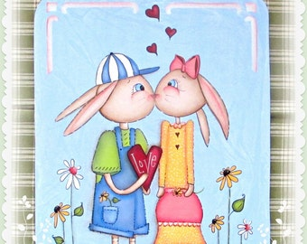 E PATTERN - Love Bunnies - Spring Design inspired by Terrye French & Painted by Sharon Bond - FAAP