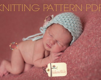 KNITTING pattern newborn bonnet hat  Spring Bloom Bonnet may sell all finished items
