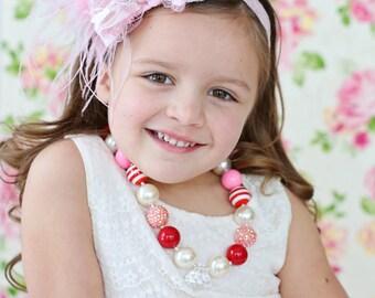 Pink Bubblegum Flower Headband