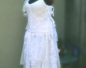 Bohemian Wedding Dress Custom Order Designed by KheGreen #KheGreen #EcoFashion