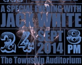 Jack White Poster - Columbia, South Carolina 2014