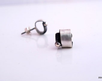 Post stud contemporary  silver earrings, Sterling Silver Studs, Sterling silver Earrings