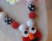 Elmo Inspired Chunky Necklace - Sesame Street