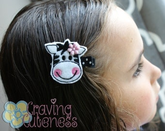 Zebra Hair Clip - Meet Miss Zee