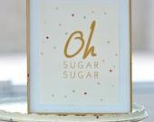 Oh Sugar Sugar Sweet & Dessert Poster