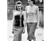 1940s Vintage Knitting Patterns for Women Sweaters and Cardigans Patons and Baldwins Book No. 184