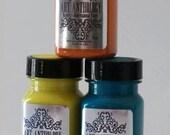 Art Anthology, Velvet, gel paint in Limeaid, Orchid, Lemon Tart, Figi, Tango