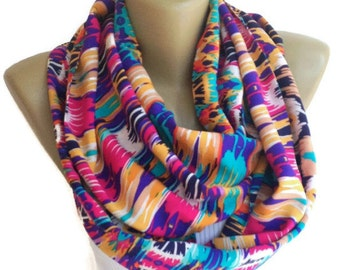 Mothers Day Gifts // Gifts For Her // Gifts For Women // Women Scarf Scarves Aztec Scarf Infinity Scarf  Fashion Scarf senoaccessory