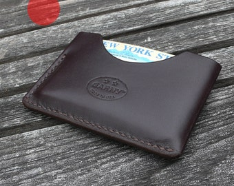 GARNY -  Card Case No.3 - Simplified wallet from dark brown leather  - al