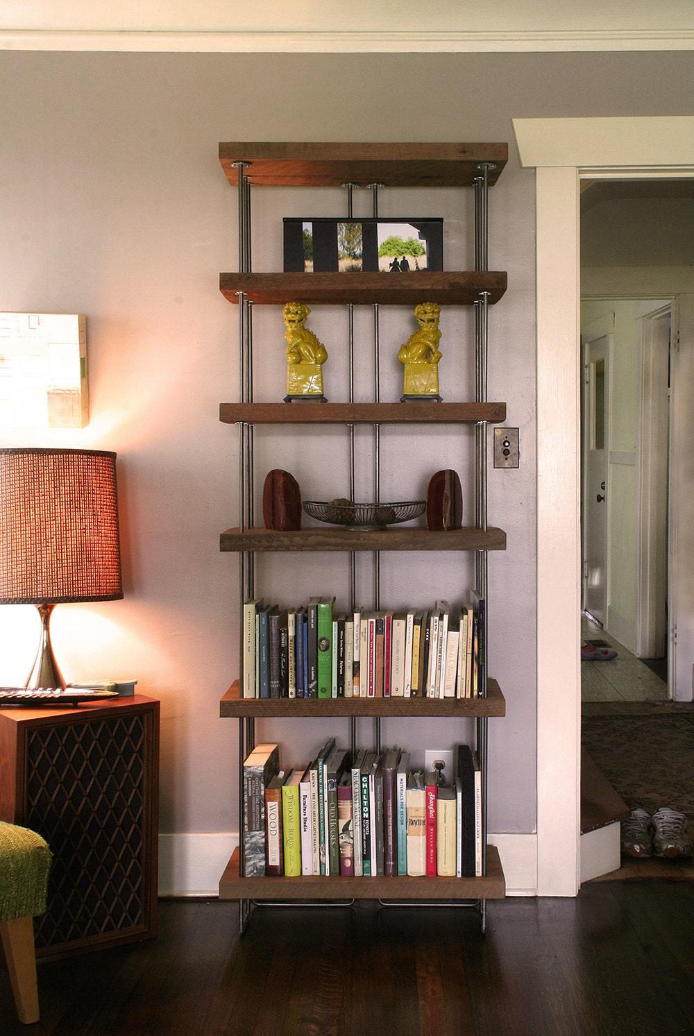 Recycled Wood Bookcase ~ Bookcase from reclaimed old growth wood and recycled content