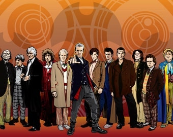 "Doctor Who - The 12 Doctors - NEWLY UPDATED - 18 x 12"" Digital Print"