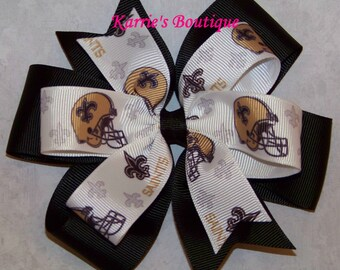 Saints Hair Bow or Headband / New Orleans / Black & Gold / Who Dat / Fleur dre Lis / Infant / Baby / Girl / Toddler / Boutique Clothing