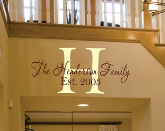 Family Wall Decals Personalized Family Name, Family Vinyl Lettering, Vinyl Wall Art Family Vinyl - Wedding Gift Wall Decal PA