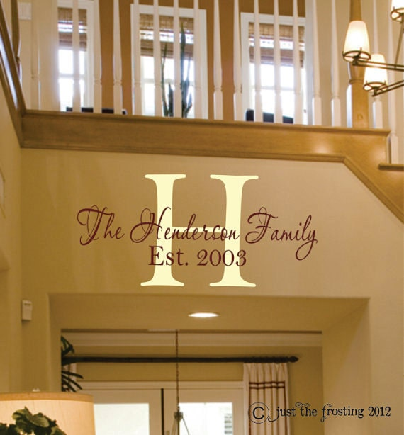 Family Name Wall Art family wall decals personalized family name family vinyl