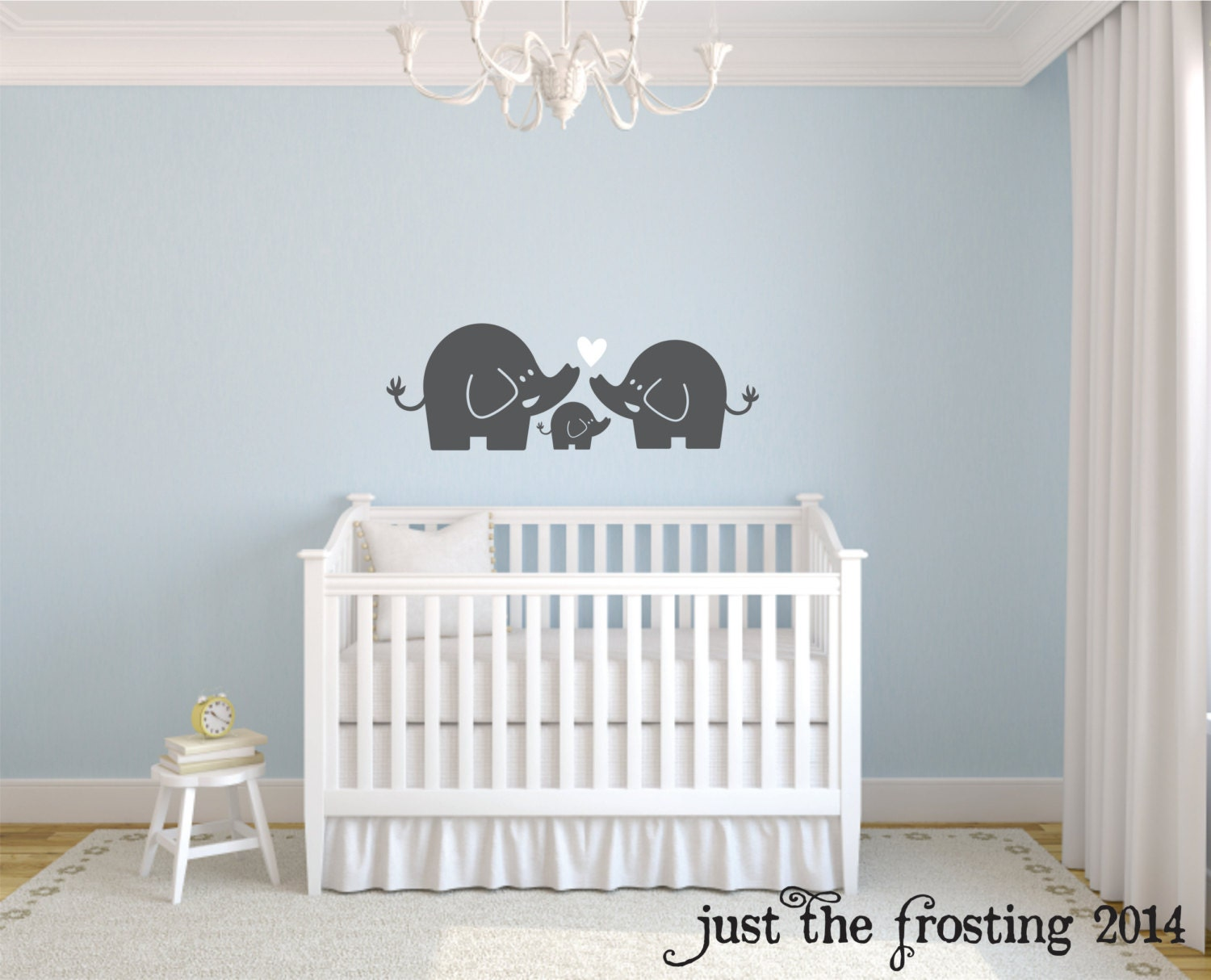 elephant family wall decal nursery elephant wall decal baby zoom