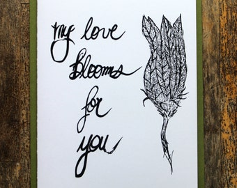 My Love Blooms For You - Zucchini Blossom Valentine
