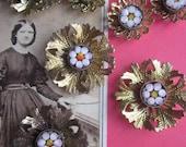 Antique Italian Micro Mosaic In Vintage Setting