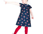 Girls T-Shirt Dress - Easy Sewing Pattern by Anna Vickery - Instant PDF Download - Multi Size Ages 1 to 5 included
