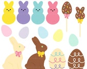 easter candy clipart clip art digital bunny egg chocolate - Easter Candy Clipart