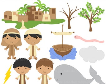 christian clipart bible characters jonah whale clip art - Jonah and the Whale Clip Art