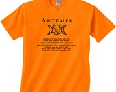Artemis Hunter's Blessing Tee - Small to 5x Unisex  Pagan Hunting Wiccan Deer Hunter