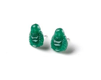 Buddha Stud Earrings - Accessories - Women's Jewelry - Gift Idea - Handmade - Gift Box Included